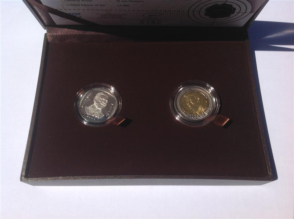 Proof Set R5 Mandela 2008 Birthday Coin R500